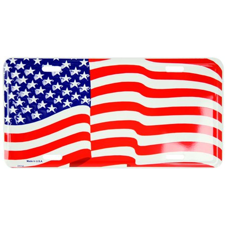 Image of American Flag Novelty license plate