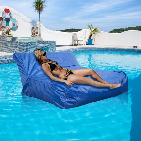 TMISHION Inflatable Lounger Bag Hammock Air Sofa,Swimming Pool Air Lightweight Floating Chair Compact and Portable Couch Ideal Indoor or Outdoor for Camping, Beach, Park (Blue) (Weight Forward Floating)