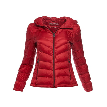 c2578745018d Michael Kors - Red Women's Michael Kors Puffer Down Jacket Coat for Winter  MK Jacket Lightweight Winterwear for Women Online - Walmart.com