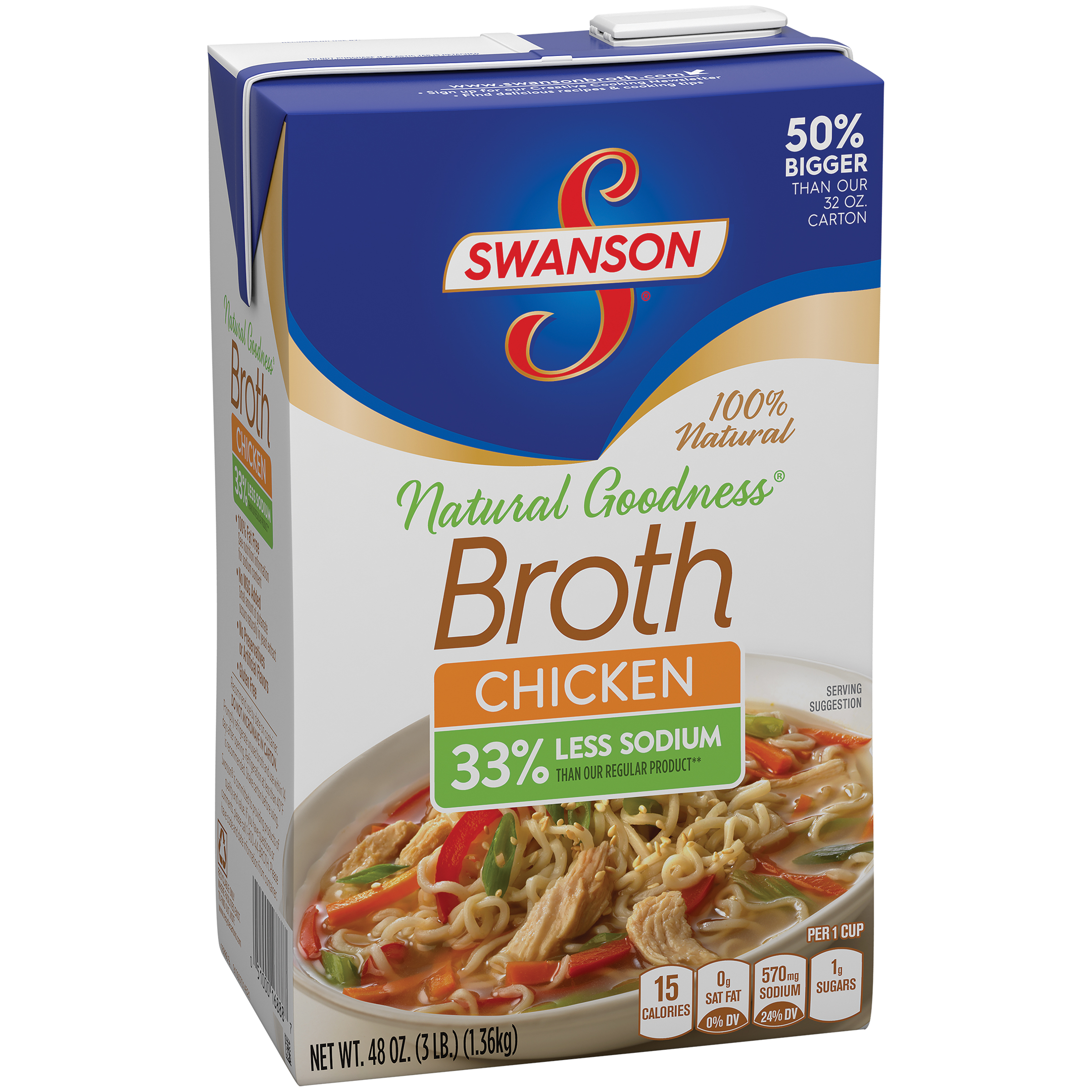 Swanson 100% Natural Natural Goodness Chicken Broth 48oz