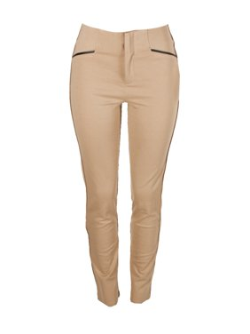 0688e7dfdc0 Product Image Inc International Concepts Tan Faux-Leather-Trim Short Length  Straight Pants 10S