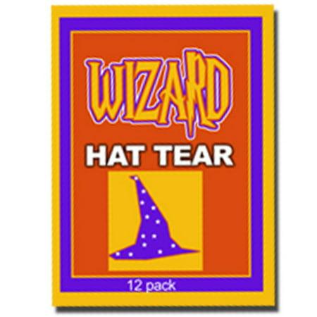 Paper Wizard Hat (Hat Paper Tear, (12) - WIZARD)