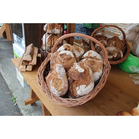Laminated Poster Bread Bakery Whole Food Fresh Market Basket Poster Print 24 X 36
