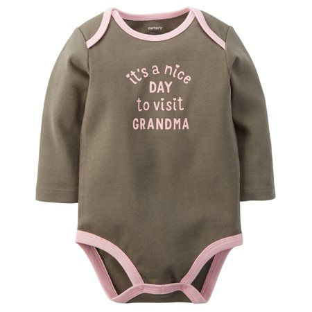 Carters Baby Clothing Outfit Girls Visit Grandma Bodysuit Green - Grandma Outfit