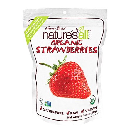 Nature's All Foods Freeze-Dried Strawberries, 1.2 (Best Freeze Dried Food Brand)