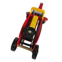 GHP 2-Ton Capacity Red Steel Durable Portable High Power Hydraulic Floor Jack w Handle