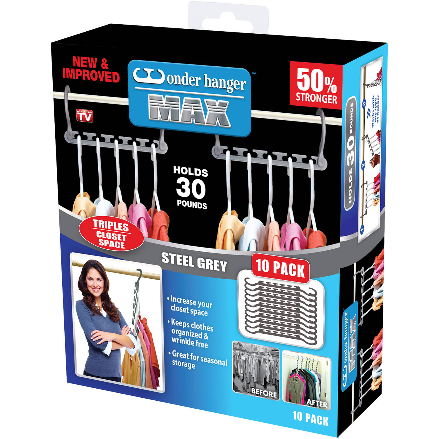 As Seen On TV Clothes and Closet Storage Organizer- Wonder Hanger Max!