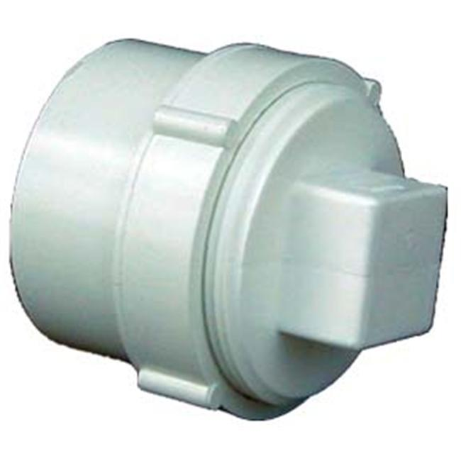 Genova Products 4inch Sch.  40 PVC-DWV Clean-Out Fitting With Threaded Plug  71640