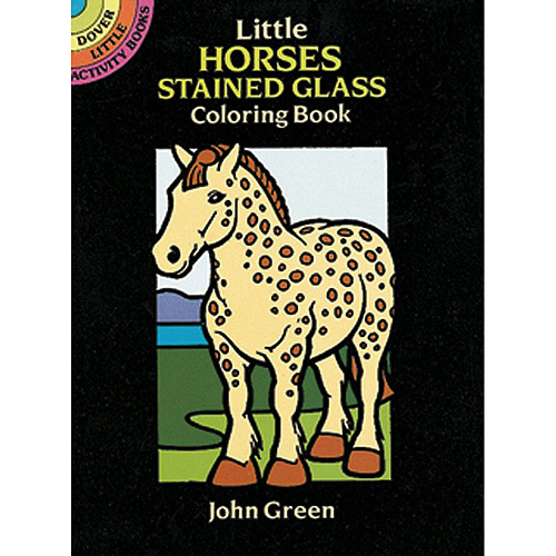 Dover Publications Little Horses Stained Glass Coloring Book