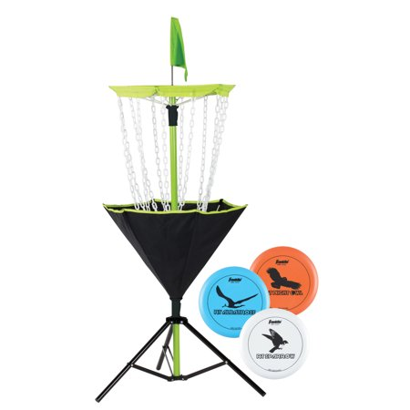 Franklin Sports Disc Golf Set - Includes Disc Golf Basket, 3 Golf Discs and Carrying