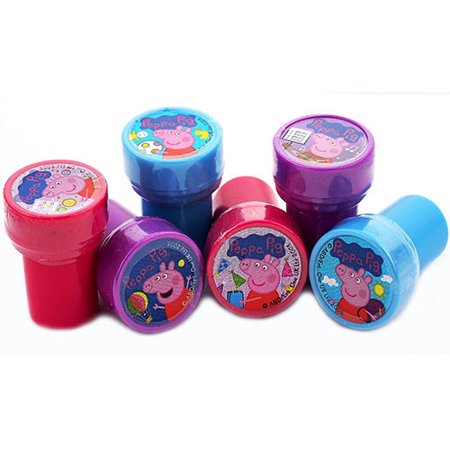 12 Peppa Pig Character Authentic Licensed Self Inking Stampers - Self Inking Stamper