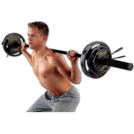 Golds Gym Olympic Weight Set  110 Lbs