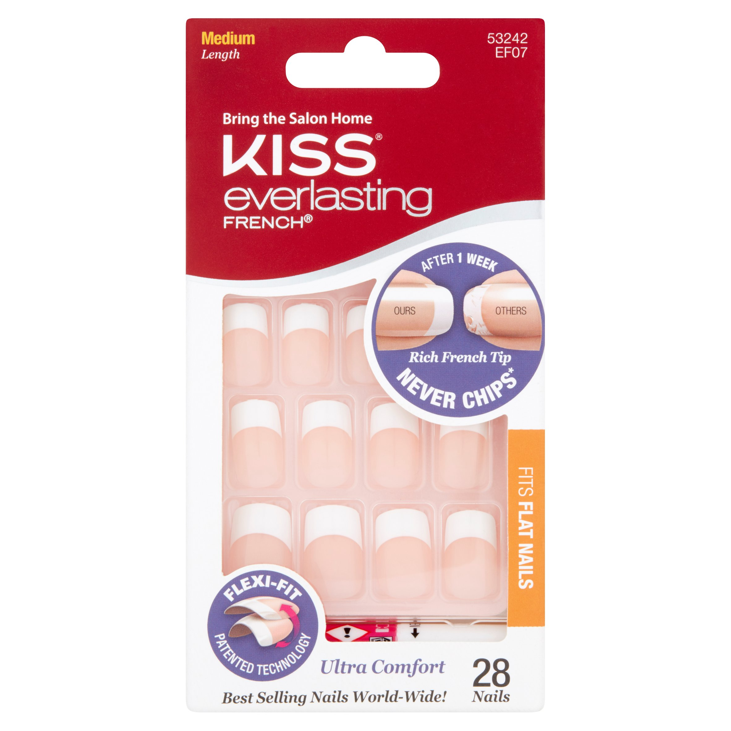 Kiss Everlasting French Nail Kit, 28ct