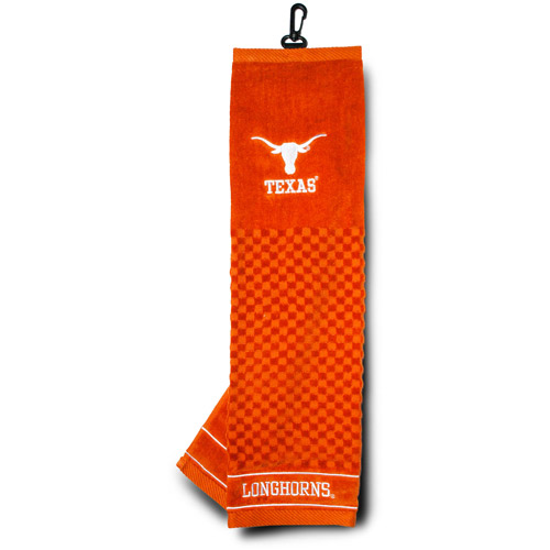 Team Golf NCAA Texas Embroidered Golf Towel