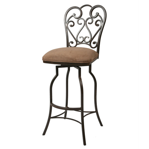 "Pastel Furniture Magnolia 26"" Bar Stool in Moccasin"