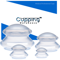 Cupping Warehouse Supreme 4  Professional and Home Use Chinese Massage Silicone Cupping Therapy Set