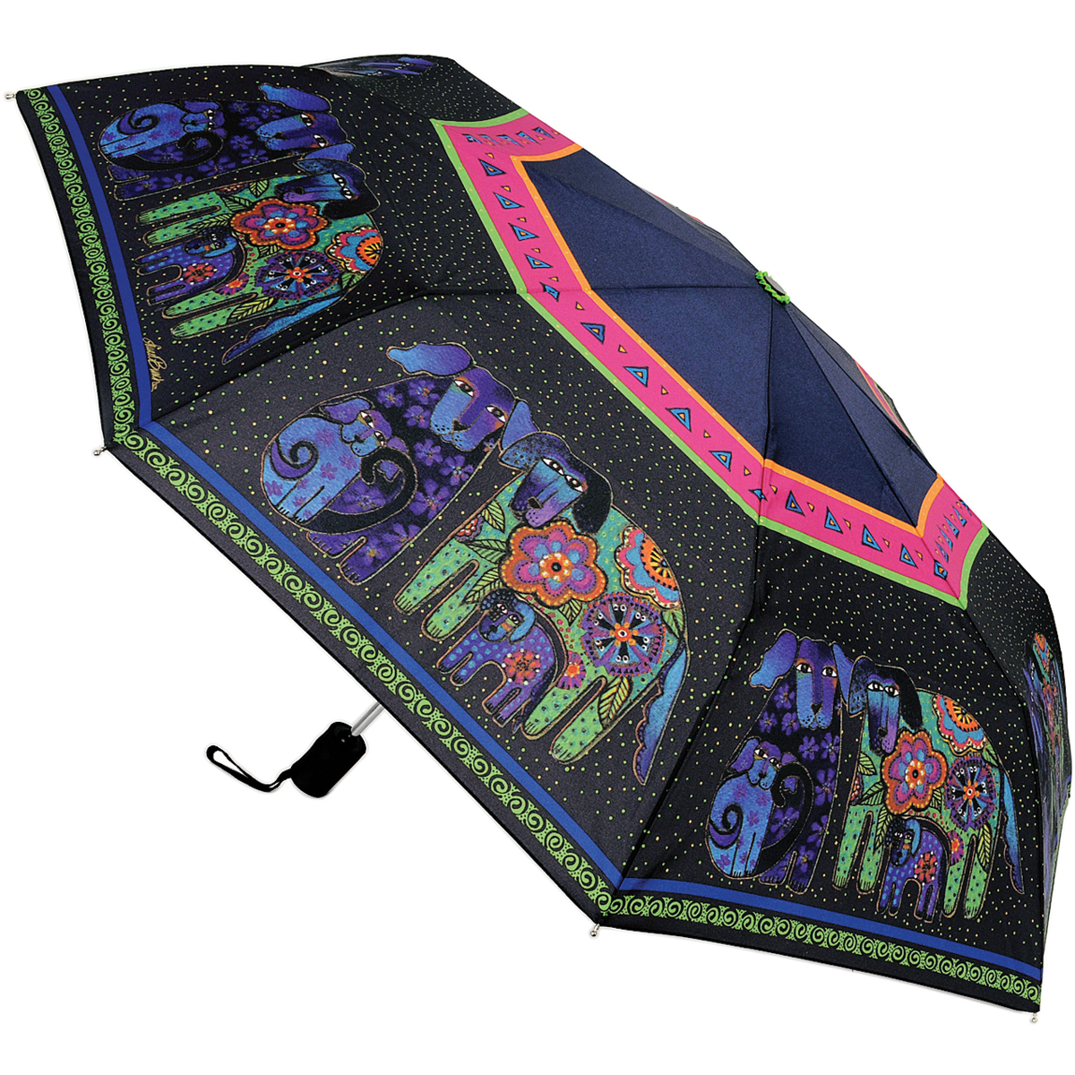 Laurel Burch Compact Umbrella 42 Inch Canopy Auto Open/Close-Dog &