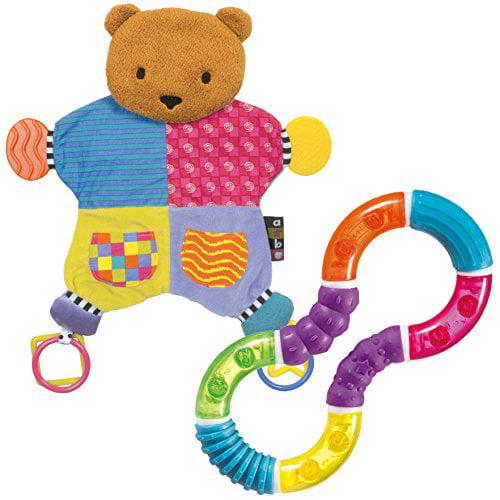 Image of Amazing Baby Blanket Teether Bear with Figure 8 Teether