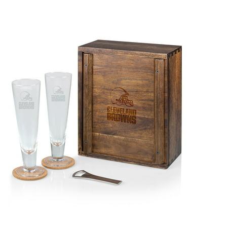 NFL Cleveland Browns Acacia Wood Pilsner Beer Glass Gift Set for Two - image 1 de 1