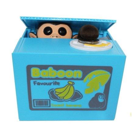 Free Emoji Keychain + Cute Stealing Coin Money Banana Box Monkey Bank Perfect Gift