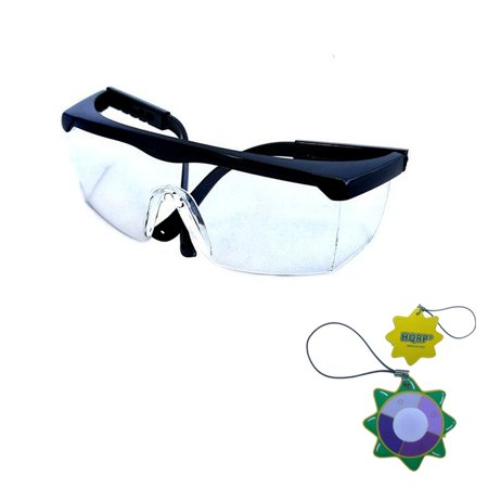 HQRP UV Protecting Clear Lenses Safety Glasses for Laboratory workers Chemistry Lab Science class + HQRP UV - Science Goggles
