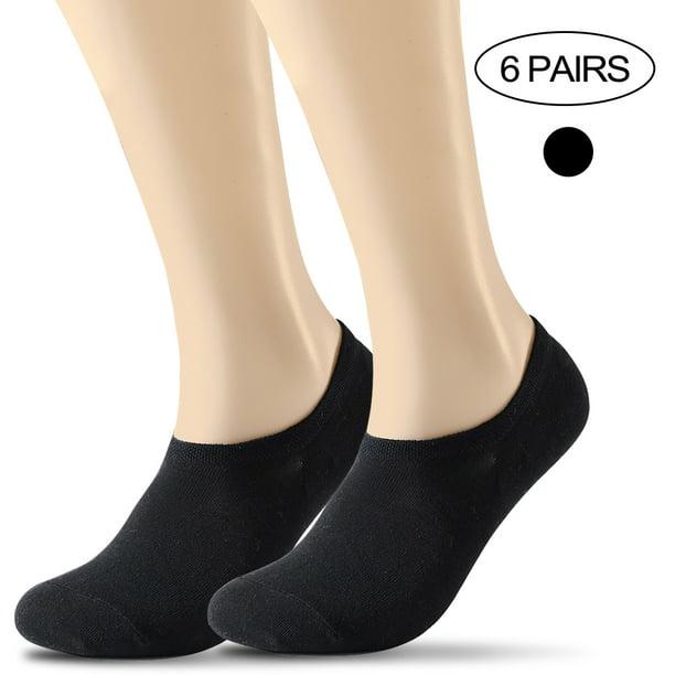6 Packs Womens No Show Socks Non Slip Flat Boat Line Low Cut Socks