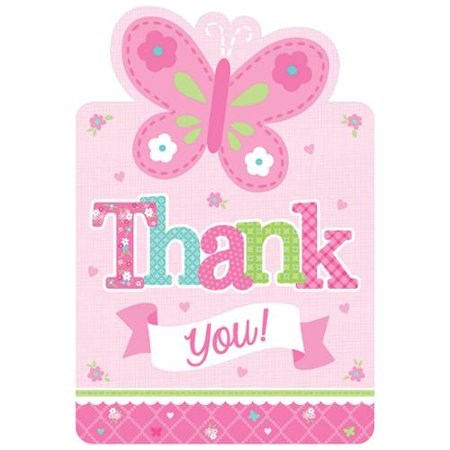 girl postcard thank you cards 8 count baby shower party supplies