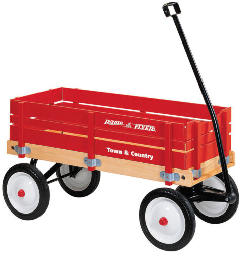 Radio Flyer #24 Town and Country Wagon w/ Removable Woode...