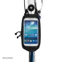 Bell Sports Stowaway 450 Top Tube Frame Bag Bicycle Storage with Smartphone Pocket, Black/Silver
