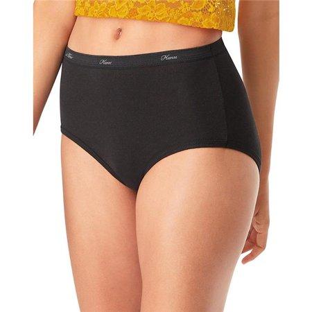 Hanes Women's Cotton Black Briefs Underwear, 10-Pack