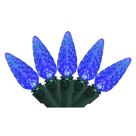 Set of 70 Blue LED C6 Christmas Lights