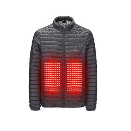 Men Women USB Electric Heated Coats Down Jacket Winter Heating Warm Clothe Coat Vest (Mens Black Jacket Vest)