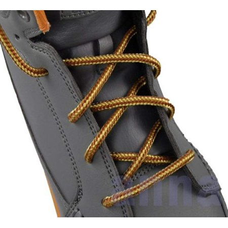 Laces For Less (High Quality Round Laces For Boots And Shoes (45 inch, Brown / Yellow) By)
