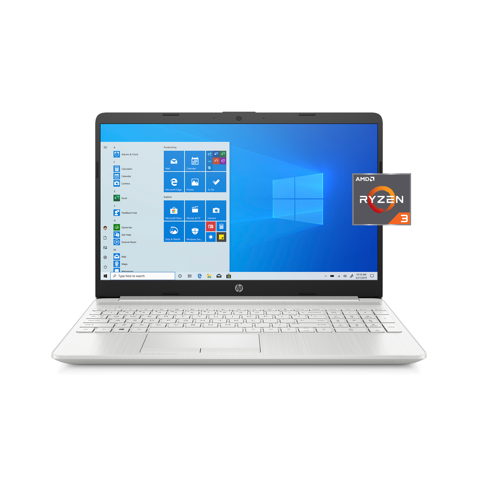 HP 15-gw0010wm 15.6″ Laptop, AMD Ryzen 3, 4GB RAM, 1TB HDD + 128GB SSD SSD, (Google Classroom Compatible).