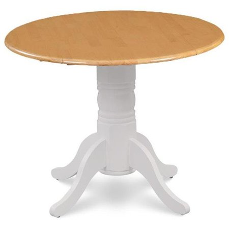 M&D Furniture BUT-WOA-TP 42 in. dia. x 30 in. Burlington Round Dining Table with Two 9 in. Drop Leaves, White Oak](Party Store In Burlington Ma)