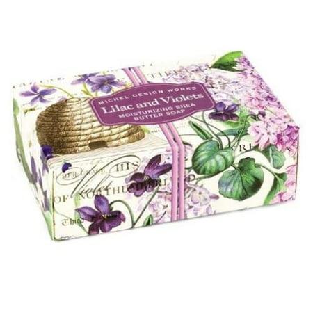 Michel Design Works Boxed Single Soap 4.5 Oz. - Lilac & Violets ()