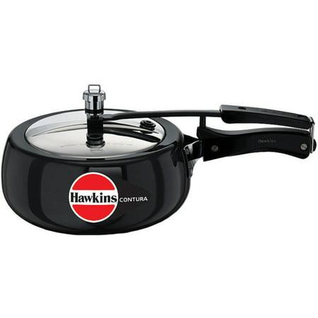 Hawkins Cb35 Hard Anodised Pressure Cooker  3 5 Liter  Contura Black
