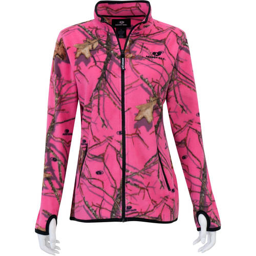 Mossy Oak Women's Full Zip Fleece Jacket, Mossy Oak Patterns by Generic