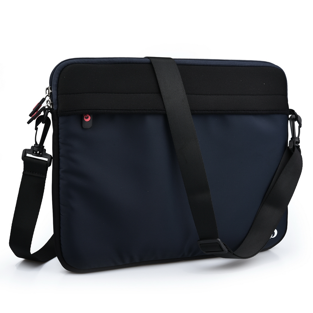 KroO 13.3-Inch Laptop Neoprene Messenger Bag Sleeve With Front and Rear Pockets and Removable Carrying Shoulder Strap
