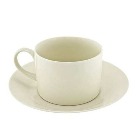 10 Strawberry Street Royal Cream Cup and Saucer in Cream (Set of