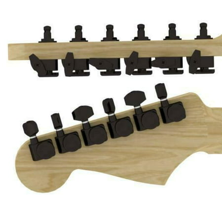 hipshot locking guitar tuners fender directrofit 2 pin 6 inline black 21 1 new. Black Bedroom Furniture Sets. Home Design Ideas