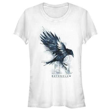 Junior's Harry Potter Ravenclaw Bird Watercolor T-Shirt