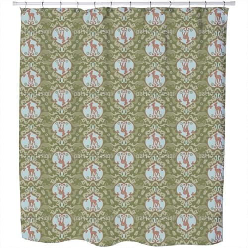Uneekee As The Birds Sang For The Fawn Shower Curtain