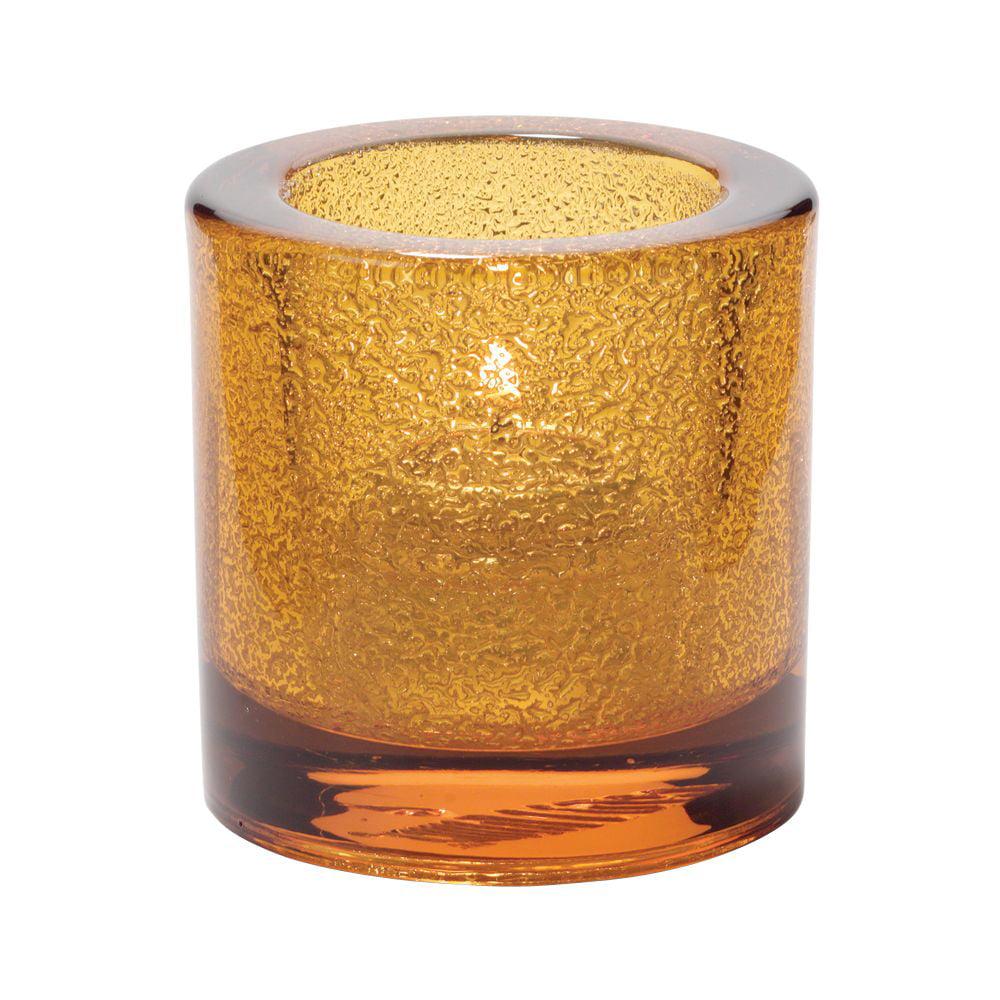 Hollowick 5140AJ Amber Jewel Thick Glass Tealight Lamp