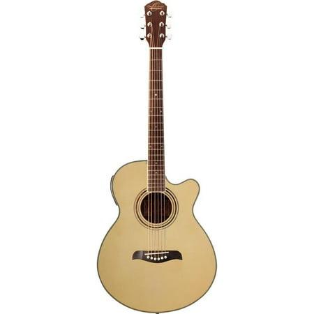 Oscar Schmidt OG10CE Concert-Size Cutaway Acoustic-Electric Guitar -