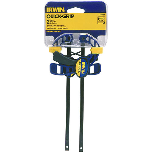 Irwin 2-Pack Quick-Grip One Handed Micro Bar Clamp / Spreader, 530062