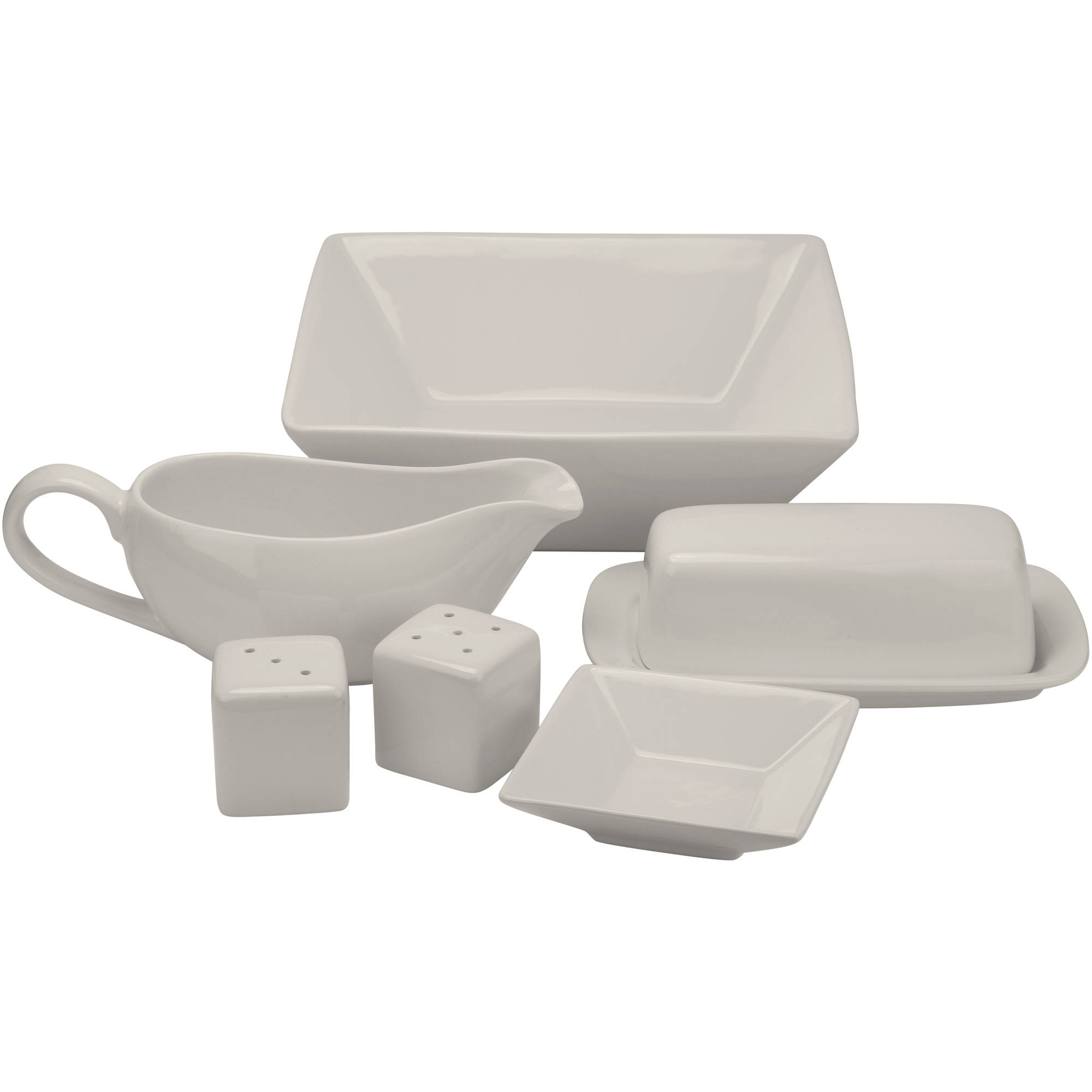 Nova 24-Piece Square Dinnerware Set Plus 10 Bonus Serving Pieces Image 3 of 12  sc 1 st  Walmart & Nova 24-Piece Square Dinnerware Set Plus 10 Bonus Serving Pieces ...