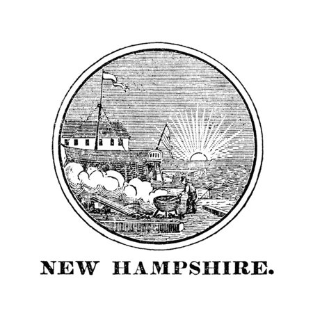 New Hampshire State Seal Print Wall Art - New Hampshire State Seal