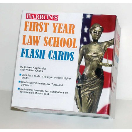 Barron's First Year Law School Flash Cards : 350 Cards with Questions & Answers