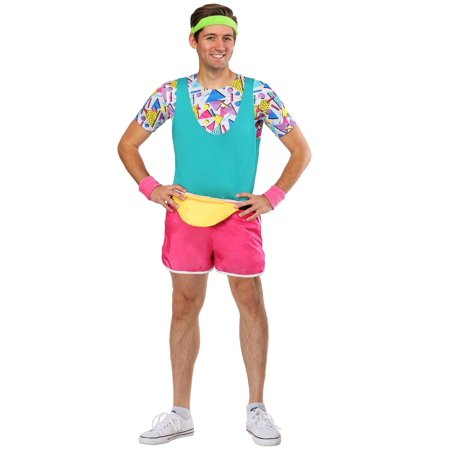 Men's Work It Out 80's Costume (80's Halloween Specials)